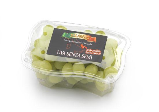 uva bianca senza semi Solarelli cestino 450 g